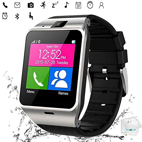 Smart Watch Anti Lost Bluetooth Wristwatch Pedometer Activity Tracker Sports Smartwatch Music Wristband Compatible with Men Women Boys Android Phones Samsung Galaxy S9 S8 S7 Huawei ZTE Motorola Black