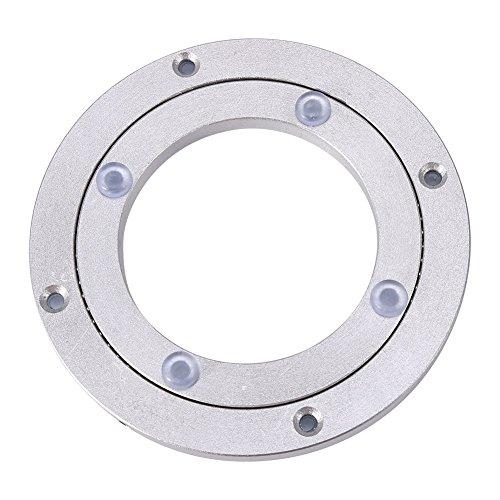 Placa giratoria de cojinete Giratorio de aleación Lazy Susan Placa giratoria de cojinete Giratorio de aleación de Aluminio Resistente Mesa de Comedor Redonda Placa giratoria Suave[1#]