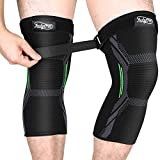 MUBYTREE Knee Support Knee Brace Compression Sleeve 2 Pack of 3D Knitting Elastic