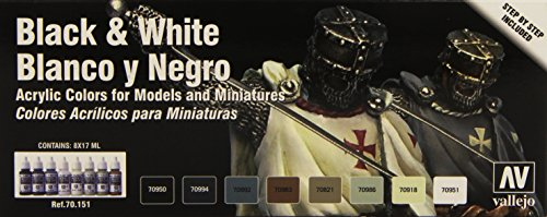 Vallejo Black and White Color Set
