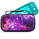 Travel Carrying Case for Nintendo Switch Lite 2019, Hard Shell Portable Storage Cases Compatible with Switch Lite Games & Accessories, Nebula
