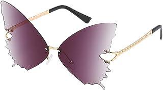 ZEZKT Lunettes De Soleil De Papillon Femme Unisex Cat Eye Eyewear Lunettes de Soleil UV400 Protection Couleur de Fête Cade...