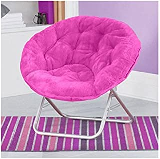 Very Comfortable Mainstays Faux-Fur Saucer Chair (Pink) by Mainstays