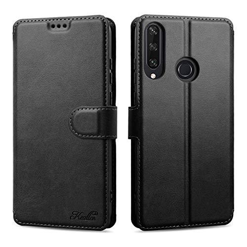 Keallce für Huawei Y6P Hülle, Handy Lederhülle PU Leder Hülle Brieftasche Handytasche Cover Kompatibel für Huawei Y6P Ledertasche-6.3