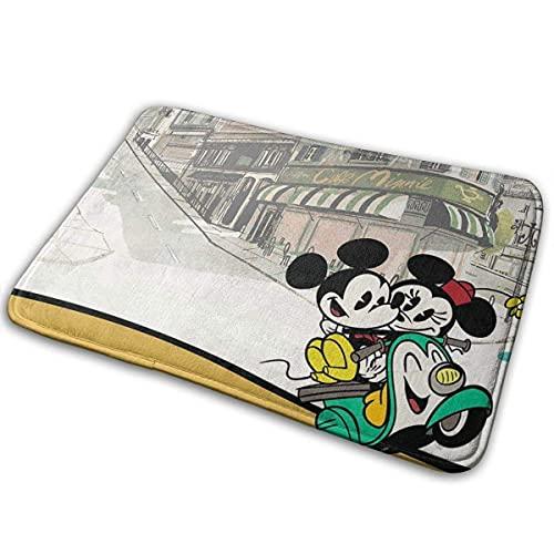Alfombra de puerta de pareja de Mickey y Minnie Mouse Alfombra de entrada para interiores y exteriores Alfombras de piso Alfombra antideslizante Alfombra de piso Alfombras finas antideslizantes para l
