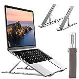 swonuk Soporte Portátil Laptop,Aluminio Ventilado Soporte Ordenador Portátil para MacBook Air Pro, Dell XPS, HP, más de 10-15.6' Laptops Tablet iPad