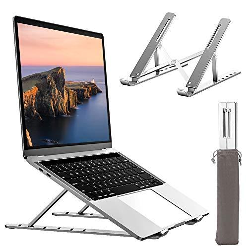 """Swonuk Supporto PC Portatile Angolazione Regolabile Laptop Supporto Alluminio Ventilato PC Stand Compatibile con MacBook Air pro, Huawei,iPad, Dell, HP, Samsung Matebook e Altri 10-15.6"""" Tablet"""