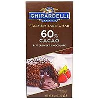 Ghirardelli 60% Cacao Bittersweet Chocolate Baking Bar - 4oz/ ギラデリ 60% カカオ ビタースイート チョコレート ベイキング バー 113.5g [並行輸入品]