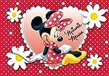 Minnie Mouse Tortenaufleger, Rechteckig A4 - Geburtstag Tortenbild Zuckerbild Tortenplatte Oblate Kuchenzuckerplatte