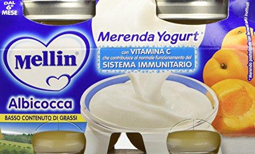 Mellin Merenda Albicocca e Yogurt - 12 Vasetti da 120 gr
