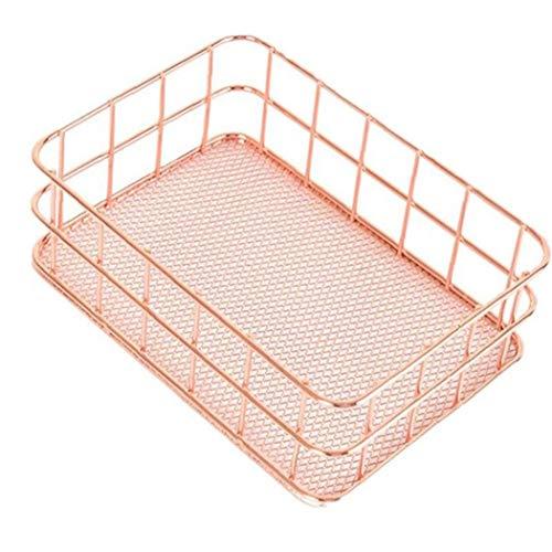 Arte hierro cesta del almacenaje de la cocina Cuarto de baño Cosméticos Organizador de uso general de almacenamiento en rack simple diseño del gabinete Estante de almacenamiento para el hogar Cocina