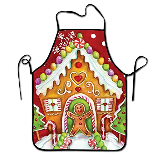 RESULT LOVE Gingerbread Holiday Cleaning Gardening Serving Apron for Cooking BBQ Apron Happy Holidays