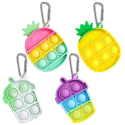 4 Stück Pop Its Fidget Spielzeug Mini...