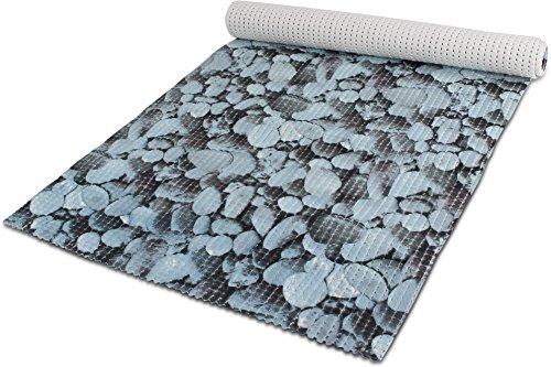 GearUp 65 oder 130 cm breiter Badvorleger/rutschfeste Matte/Bodenbelag aus PVC Weichschaum,wasserabweisend und rutschhemmend für Bad, Dusche oder Küche Farbe Lightbluestone Größe 130 cm x 200 cm