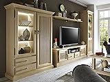 casamia Wohnwand Wohnzimmer Schränke 4-teilig Casapino 1 Vitrine 1 TV-Schrank 1 Highboard 1 Wandboard