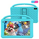 Kids Tablet 7 Inch IPS HD Display QuadCore Android 10.0 Tablet PC for Kids - GMS Certificated Dual Cameras 2GB RAM 32GB ROM WiFi with Handheld Kids-Proof Silicon Case for Kids Educational (Blue)