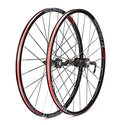 XYSQWZ 26 Inch MTB Bike Wheelset, Double Wall MTB Rim Mountain Bike Cycling Hub Hybrid/Mountain Quick Release 24 Hole 8/9/10 Speed