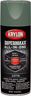 Krylon K08977000 SUPERMAXX Spray Paint, Satin Camp Green