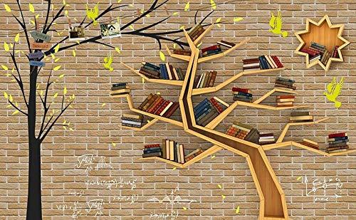 3d wallpaper for room Tree bookshelf backdrop mural 3d wallpaper modern living room wallpapers,300 * 210cm