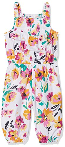 Name It Nmfvalaia Knickers Playsuit Pantalon, Multicolore (Bright White AOP: Big Flowers), 104 Bébé Fille