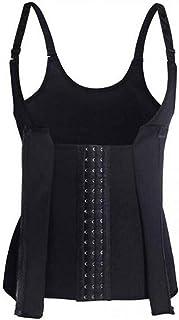 Abdomen Suit, Court Corset, Zipper Belt, Three Row Buckle Belt, Adjustable Slim Underwear, Body Shaping Clothes - Black