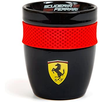 Scuderia Ferrari Formula 1 Authentic Black Scuderia Mug w/Rubber Grip