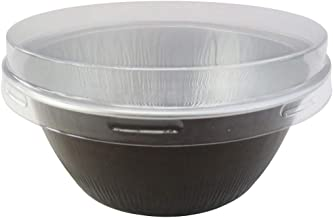 KitchenDance Disposable Aluminum 4 oz. Ramekins- Pack of 100- Color & Lid Options (With Flat Lid, Brown)
