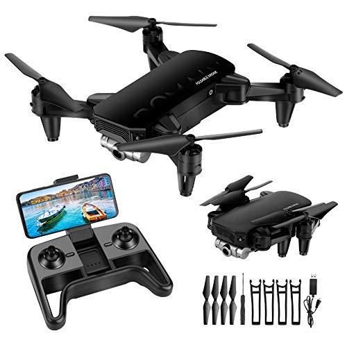 welltop Mini Drone con 4K HD Cámara, App WiFi FPV, Modo sin Cabeza, Despegue con Una Tecla y Aterrizaje por Gravedad RTF, Drone con Dos Baterías, Apto para Principiantes y Niños