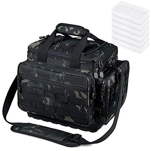 Lixada Angelbox Angeltasche Angelbox Verdickte Angelkoffer Anglertasche Karpfentasche Inklusive 4 Tackle-Boxen für Angelzubehör