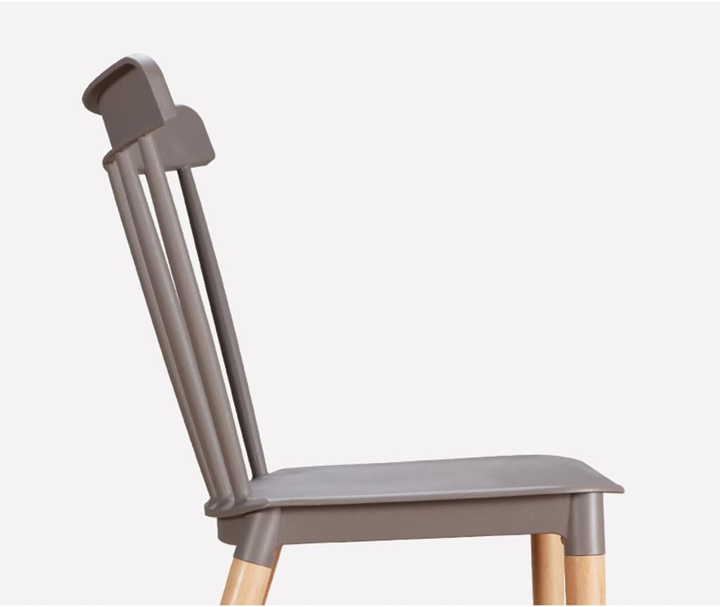 Chaise de salle à manger SLL en Bois Massif Chaise de Loisirs créative Moderne (Color : C) D