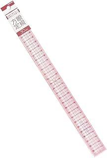 コンサイス 洋裁方眼定規 メモリ張合せ 30×2.5cm クリア CON11130