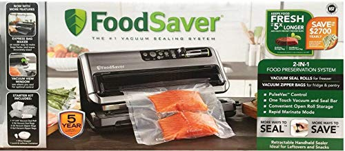 FoodSaver 1 2-in-1 Vacuum Sealing System with Starter Kit, reg, Silver