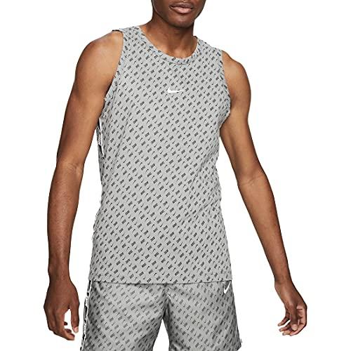 Nike M NSW Repeat Tank PRNT Débardeur pour Homme, Gris Particle/Blanc
