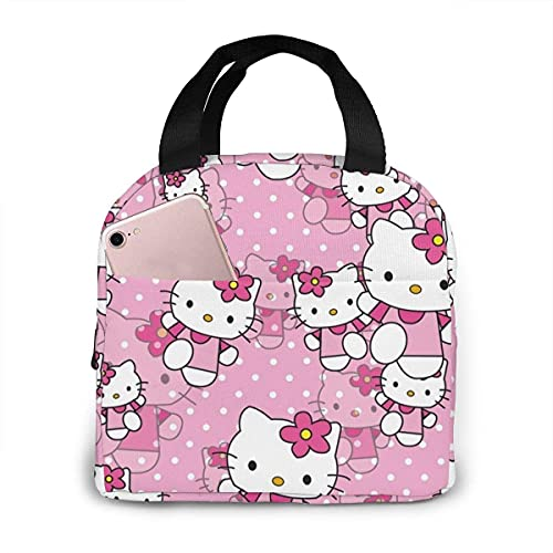 Hello Kitty - Bolsas de almuerzo para hombres y mujeres, aisladas y duraderas para el almuerzo, bolsa de almuerzo para el trabajo, escuela, picnic, viajes, playa