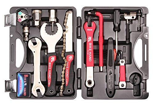 Universeller 25 tlg. Fahrrad Werkzeugsatz Bremsen Reifen Kette Shimano Reparatur - 2