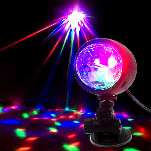 Lámpara de bola de discoteca,7 colores USB LED Mini Disco Magic Ball Luces de fiesta Lámpara de estroboscopio LED giratoria portátil de colores con USB para el hogar del automóvil Fiestas de Navidad