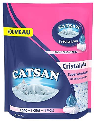 Catsan Cristal Plus Super Absorbente Arenero para gatos 3,8 L (lote de 3)