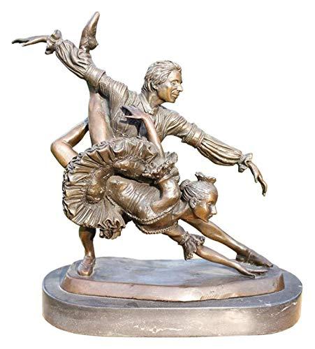 WQQLQX Statue Ballerina Statue Bronze Skulptur Ballett Puppe Weihnachten Geburtstag Kunst Figur Geschenk Desktop Dekoration Handwerk für Home Office Skulpturen