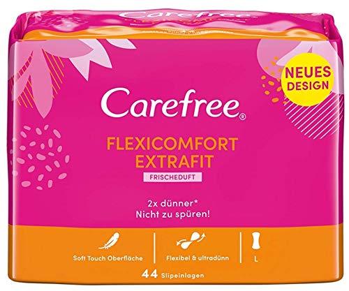 Carefree Slipeinlagen FexiComfort ExtraFit, Luftdurchlässige Slipeinlage, Flexibel und ultradünn (1 x 44 Einlagen)