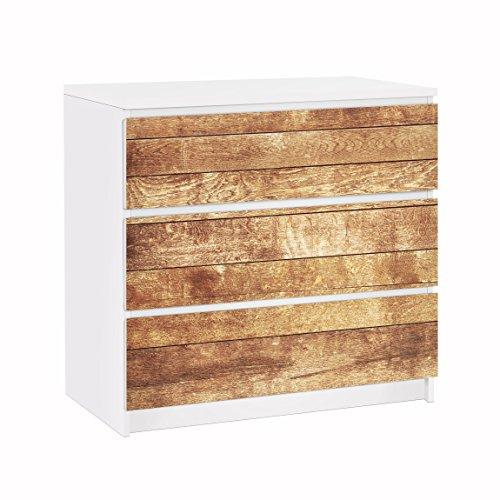 Apalis Vinilo Adhesivo para Muebles IKEA - Malm Dresser 3xDrawers - Nordic Wood Wall, Größe:3 Mal 20cm x 80cm