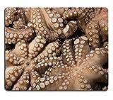 luxlady Gaming Mousepad imagen ID: 17583171Fresh Octopuses en pantalla en el Mercado de pescado en Venecia Italia