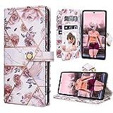 Dracool für Samsung Galaxy Note 20 6.7 Zoll Hülle Handyhülle Premium Leder Flip Wallet Hülle für Mädchen mit 10 Kartenfach Magnet Lederhülle Klapphülle Schutzhülle - Rose Gold Blumen Marmor