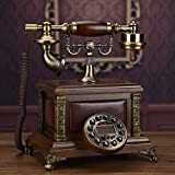 SXRDZ Teléfono Retro Teléfono Teléfono Antiguo Sala de Estar Teléfono Retro Teléfono Dial de Retorno Dial Número de marcación Fija -A Adorno de decoración de Escritorio para el hogar
