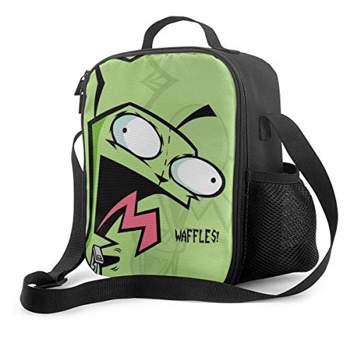 111111 Portable Insulated Lunch Bags, Lunch Handbag, Lunch Box, Invader-Zim I Women Tote Bag Waterproof Lunch Boxs for Work Outdoor, School, Office, Travel Women