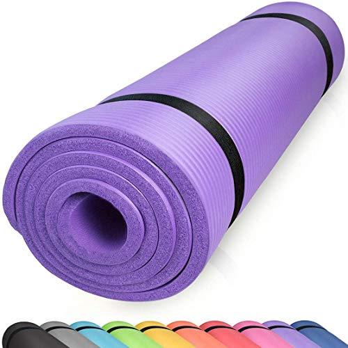 Vida Sport, tappetino di protezione, per pavimento, per attrezzi da palestra, tappetino per allenamento, per fitness, colore nero, 70 x 130 cm