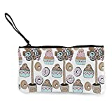 Yuanmeiju Canvas Monedero,Monedero for Women Set of Special 25 Icons Coin Organizer Purse,Change Purse
