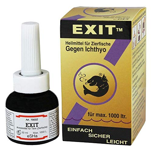 ESHA EXIT gegen Ichthyo 20ml für 1000 Liter Heilmittel für max. 1000 Liter Pünktchenkrankheit Ichthyophthirius Oodinium