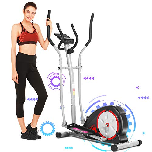 Amazing Deal ANCHEER Elliptical Machine, Magnetic Elliptical Exercise Machine with LCD Monitor, 8-Le...