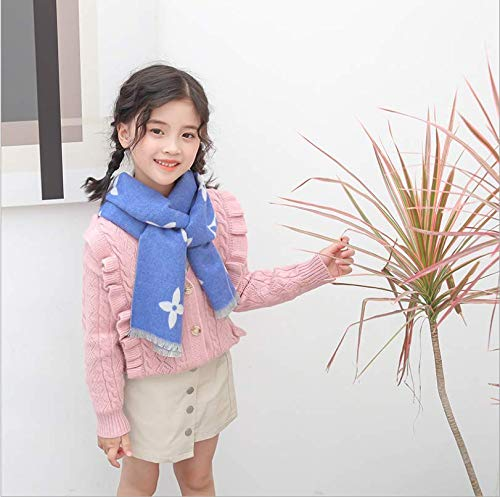 Herfst en winter kindersjaals klassieke explosie vier gras cartoon-patroon full colour imitatie kasjmier afdrukken kleine korte sjaal E