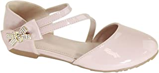 Girls' Shoes Girl's Ballet Flat Ankle Strap Shoes Party Dress Shoes